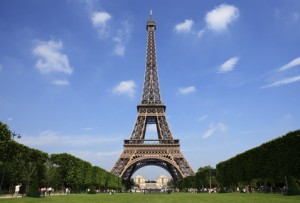 Paris - the beautiful Eiffel Tower.